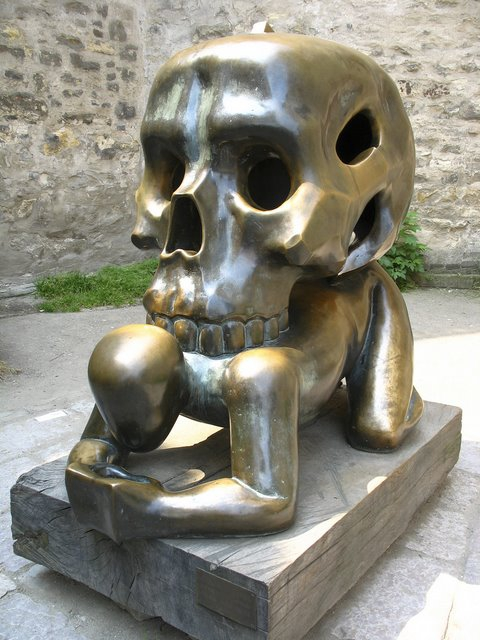 4. Skull on a man, Prague, Czech Republic