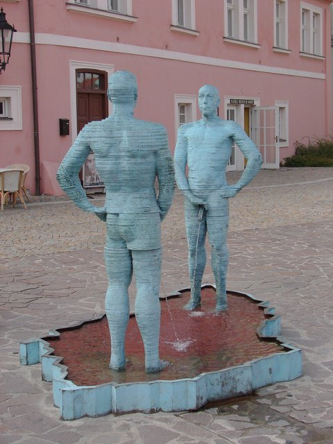 5. Two peeing guys, Prague, Czech Republic