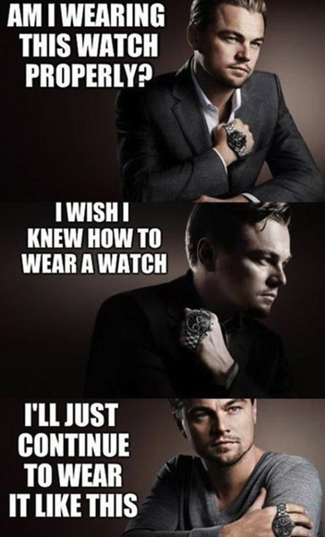 Leonardo DiCaprio Doesn't Know How To Wear A Watch