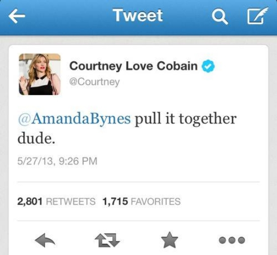 Tweet To Amanda Bynes From Courtney Love