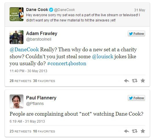 Dane Cook Ridiculed for Not Letting His Show Stream Live