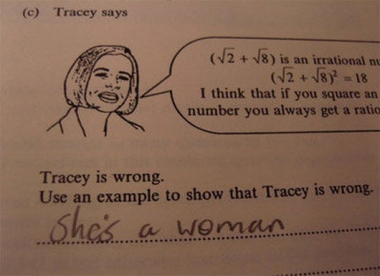 Inappropriately Funny Test Answers!