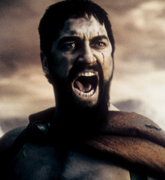 """Spartans! Ready your breakfast and eat hearty … For tonight, we dine in hell!"""