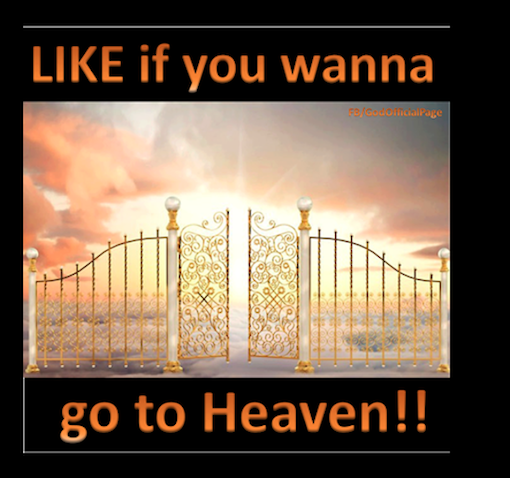 Do you want to go to heaven?
