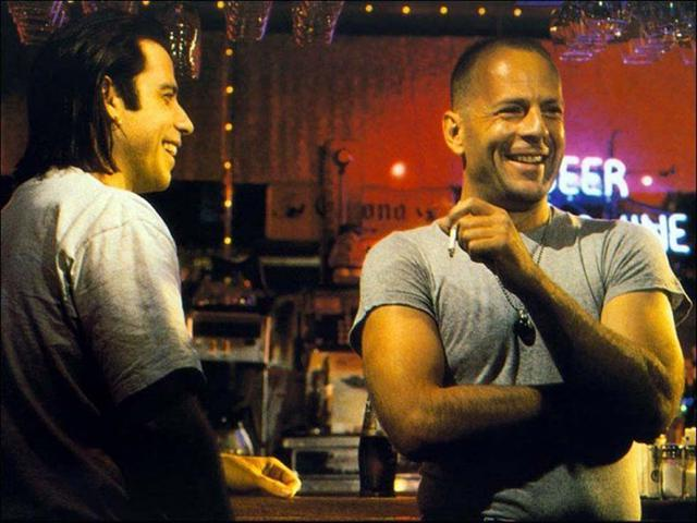 John Travolta and Bruce Willis (Pulp Fiction – 1994)
