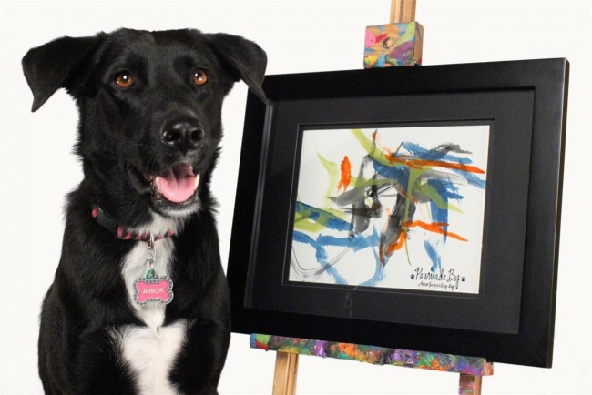A Dog Is Auctioning Off Artwork To Raise Money For Tornado Relief
