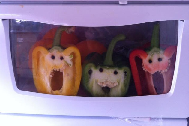 Peppers With People Faces