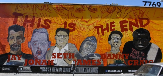 James Franco's This Is The End Mural Is Not Flattering To Jonah Hill