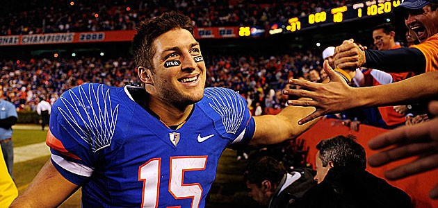 11 Categories Tebow Will Lead the New England Patriots in Next Season