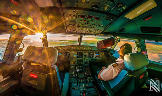 Beautiful Photos from Inside of Airplane Cockpit