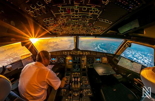 Stunning HDR Photos From Inside Airplane Cockpits от Marinara за 15 jun 2013