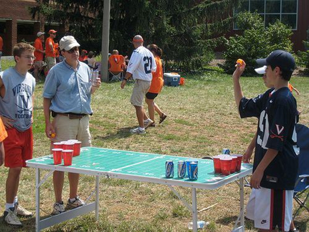 Father Son Beer pong