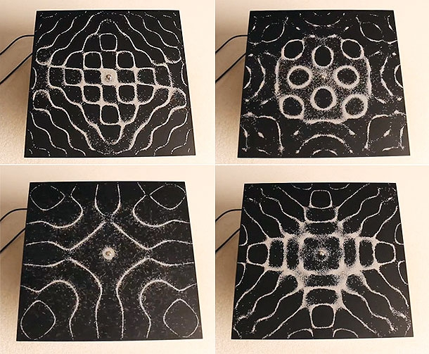 Audio Frequencies Create Extraordinary Geometric Patterns