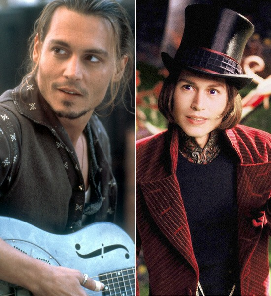 Johnny Depp  Chocolat -> Charlie and the Chocolate Factory