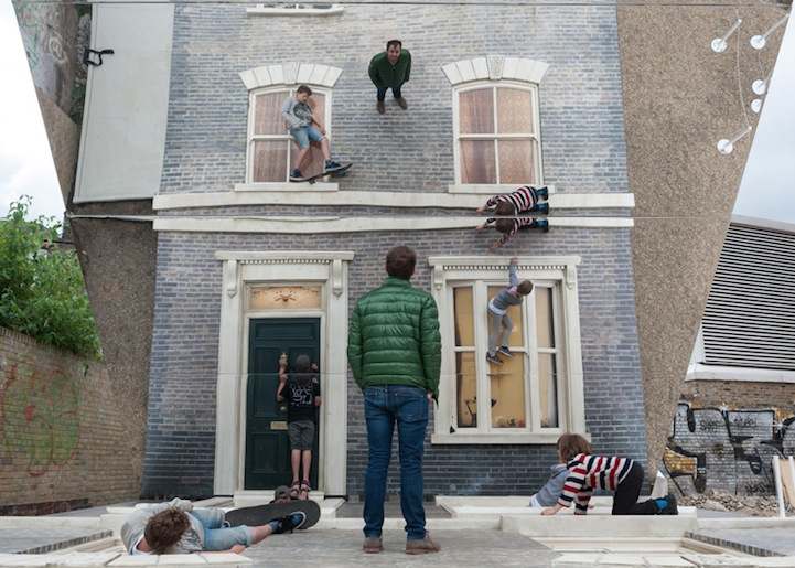 New Mind-Bending Illusion of People Scaling a Building