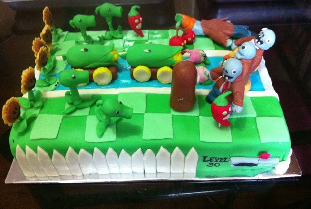 Plants vs. Zombies awesome cake!