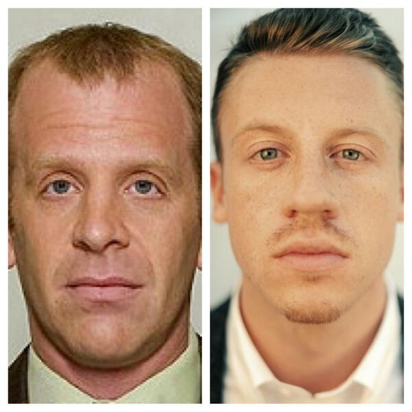 Macklemore looks like a young, hip Toby Flenderson