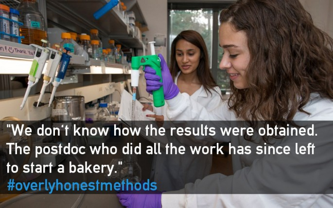 Scientists explain their processes with a little too much honesty