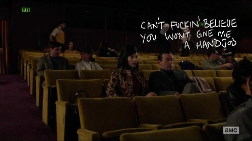 Mad Men Season 6 Screenshots With Things Hilariously Written On Them