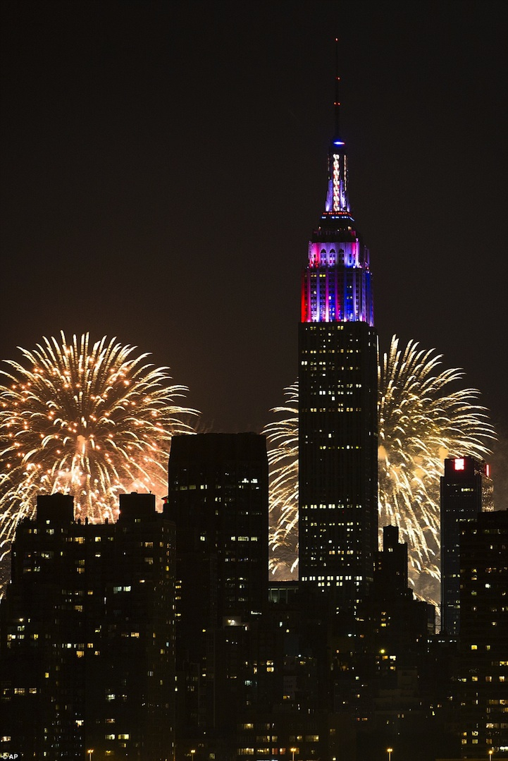 Empire State Building's Dazzling 4th of July Light Show