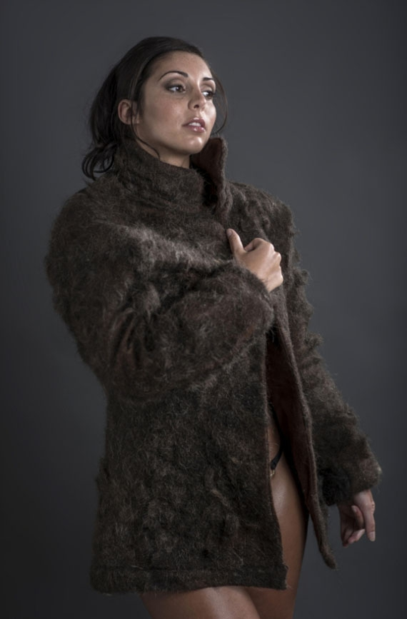 Fur Coat Made Out Of Men's Chest Hair