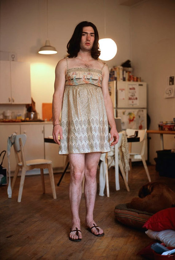 Photos Of Men In Their Girlfriends' Outfits