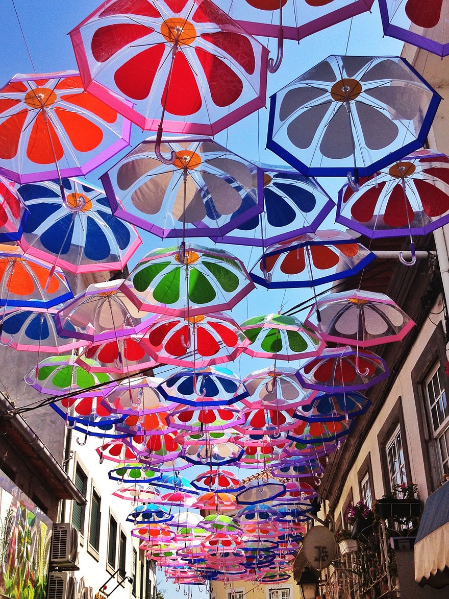 Floating Umbrellas Once Again Cover The Streets in Portugal