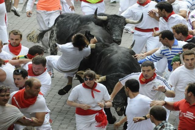 Spanish Bull Racing Ends in Injury