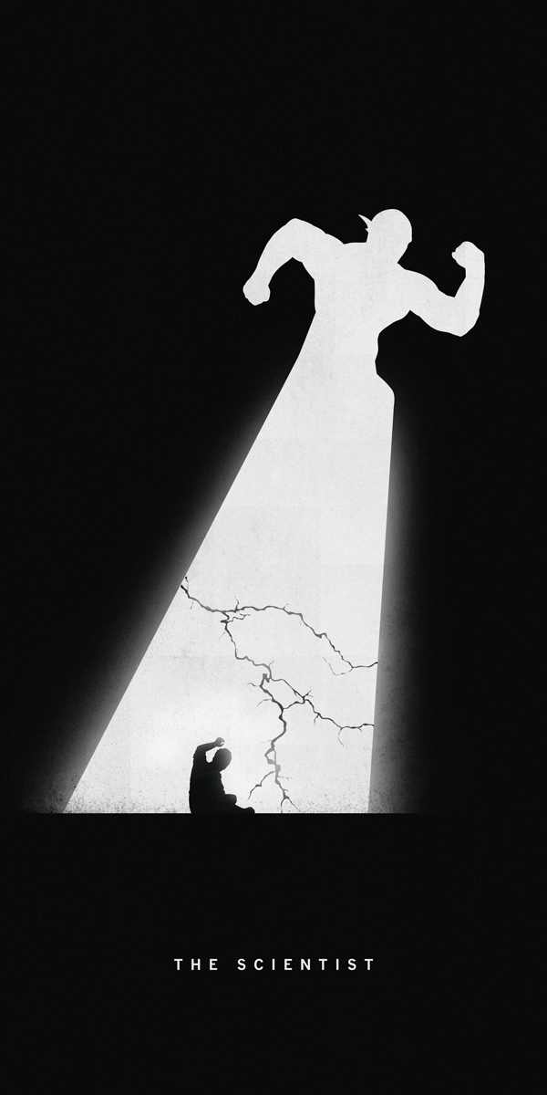 Awesome Silhouettes of Superheroes Reveal Their Past and Present