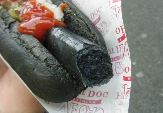 "Gross-Looking ""Black Hotdog"" Is a Japanese Delicacy"