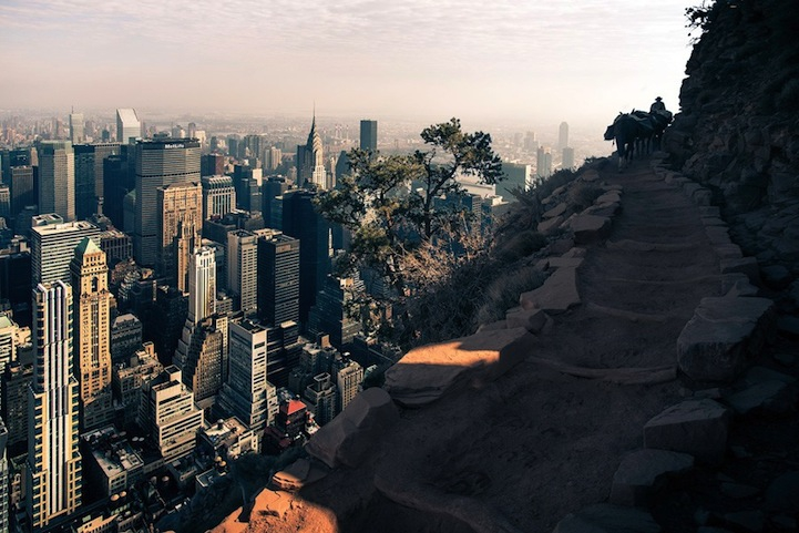 Surreal Images of New York City Placed in the Grand Canyon