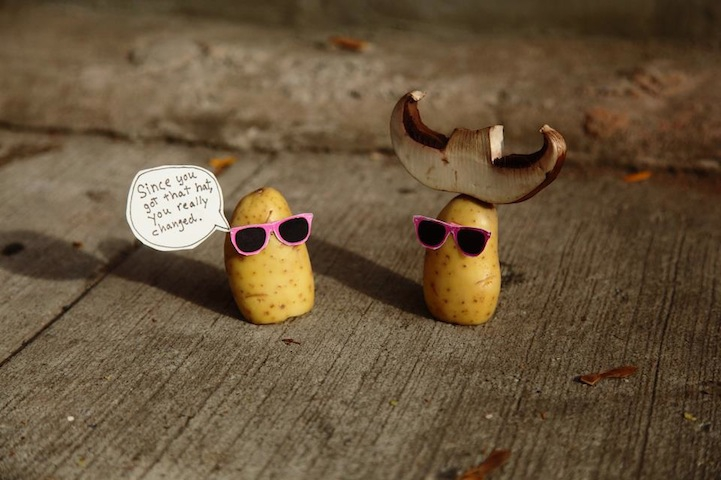 Hilarious Food Art Features Potatoes Wearing Pink Sunglasses