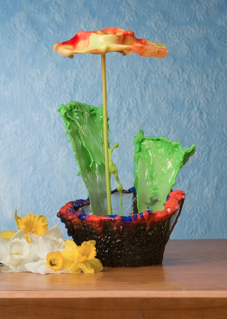 """Liquid sculptor"" creates flowers with splashing water"