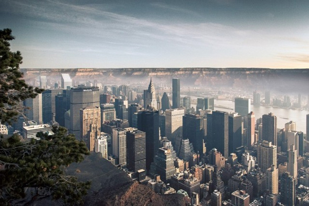 Photographer Beautifully Merges NYC Into The Grand Canyon