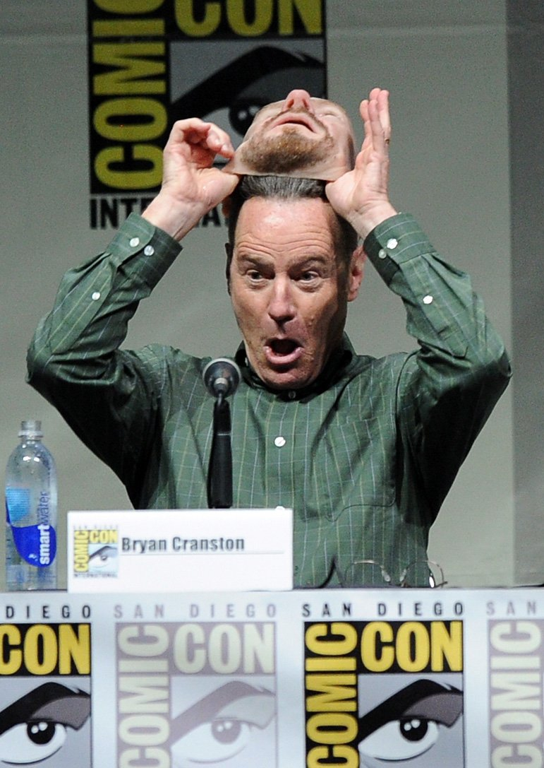 Bryan Cranston went to Comic-Con dressed as Walter White
