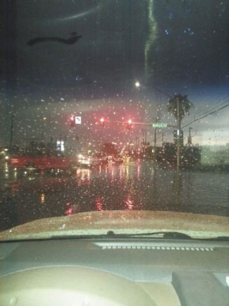 The City of Las Vegas During a Turbulent Flood