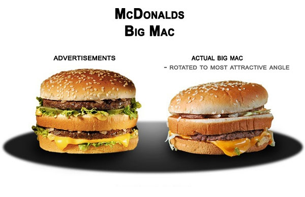 Deceptive Fast Food Ads vs Reality