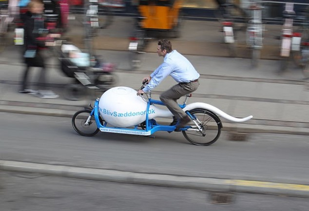 What Better Way To Transport Sperm Than In A Sperm-Shaped Bike?
