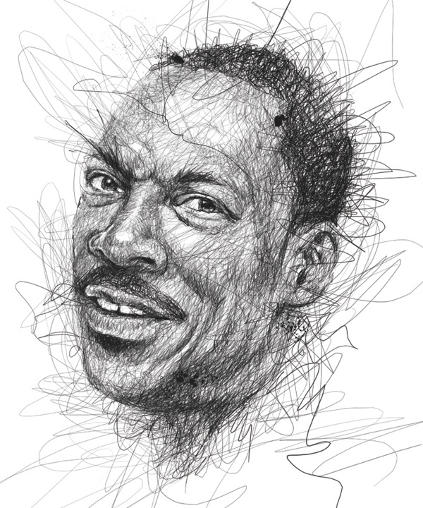 Awesome Pen Scribble Celebrity Portraits By Vince Low.