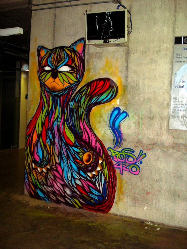"Mesmerizing Graffiti GIF of ""Hypnocat"""