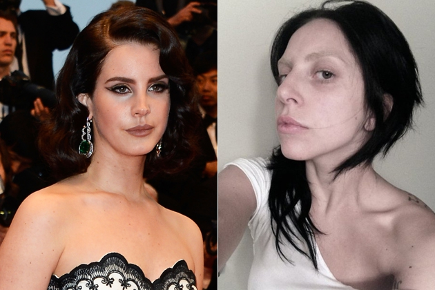 Gaga Goes Dark and Makeup Free as an Old Lana Del Rey Song Surfaces