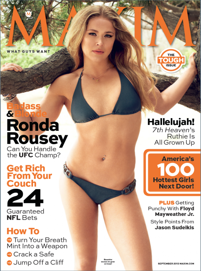 UFC's Ronda Rousey Got Topless For Maxim