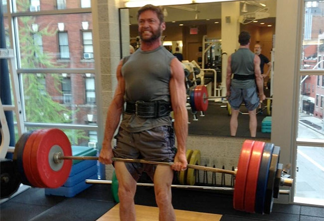 Hugh Jackman Tweets X-Men Weight Lifting Photo With Funny Caption