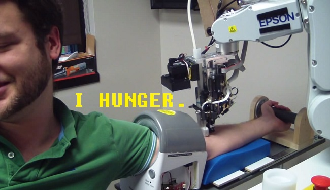 This Phlebotomist Robot Thirsts For Your Blood (VIDEO AND GIFS)