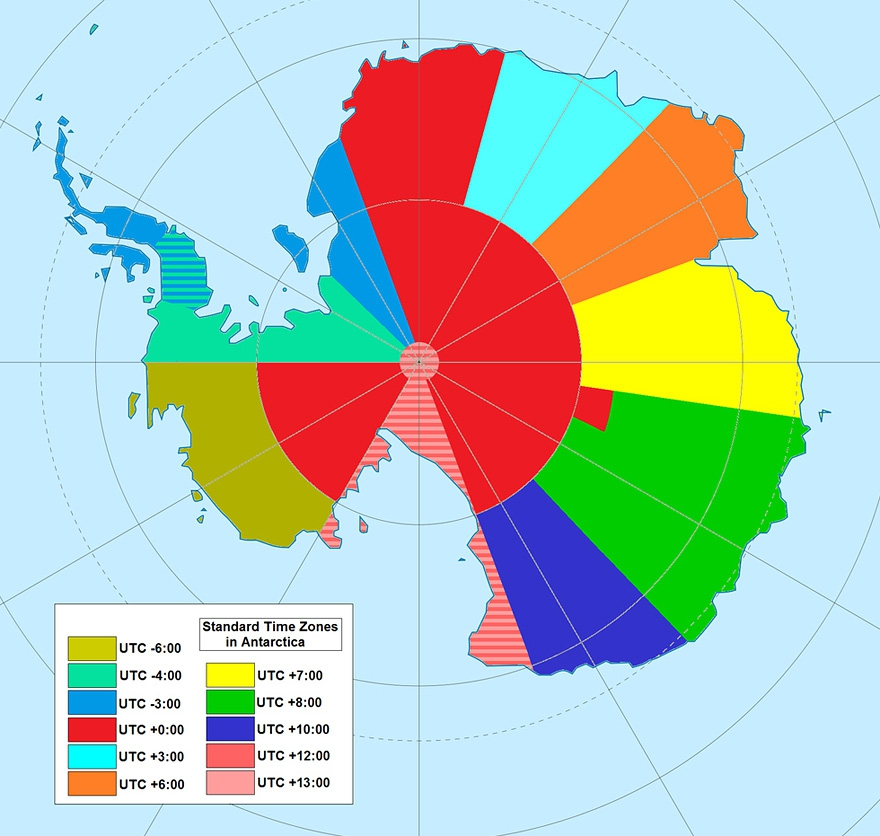 Time Zones in Antarctica