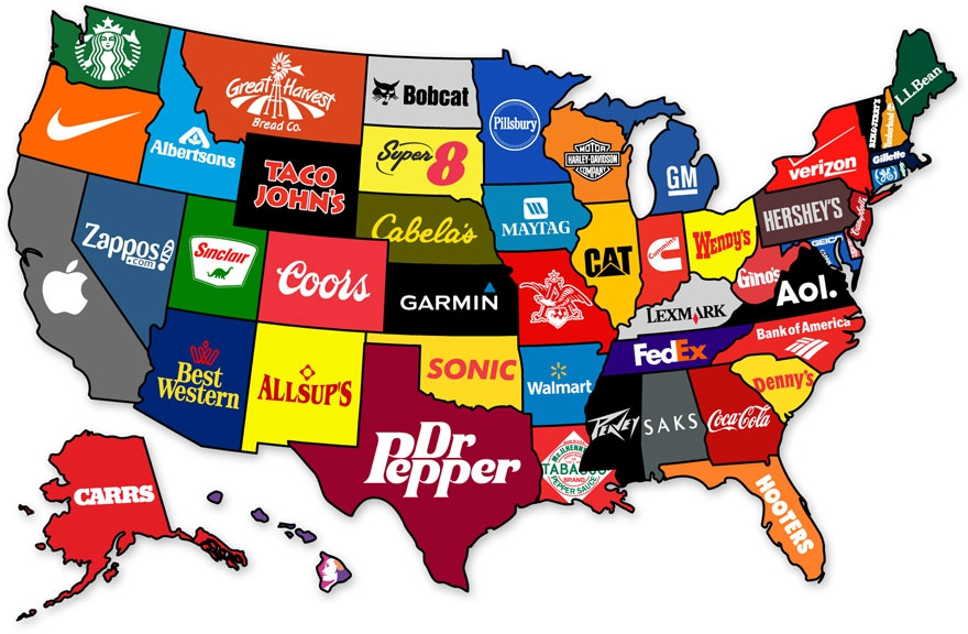 The Most Famous Brand From Each State In The US