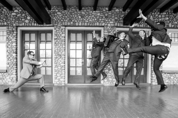 Groom and groomsmen take a wild, silly pic… Things don't go as planned