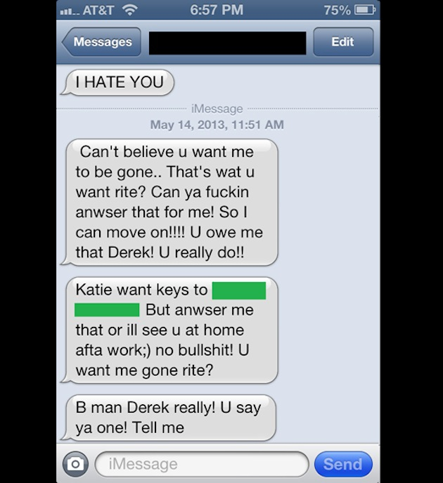 Girl Lashes Out To Her Ex Via Text -- To The Wrong Number