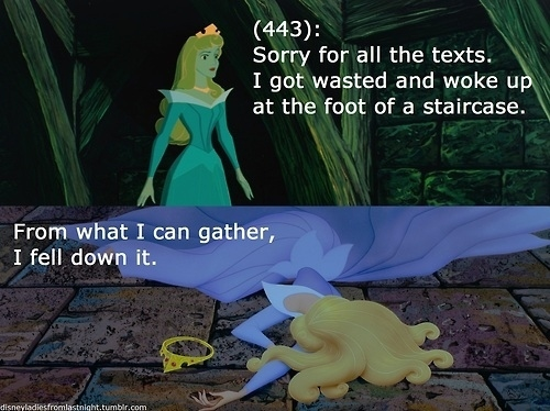 Disney Ladies + Texts from Last Night