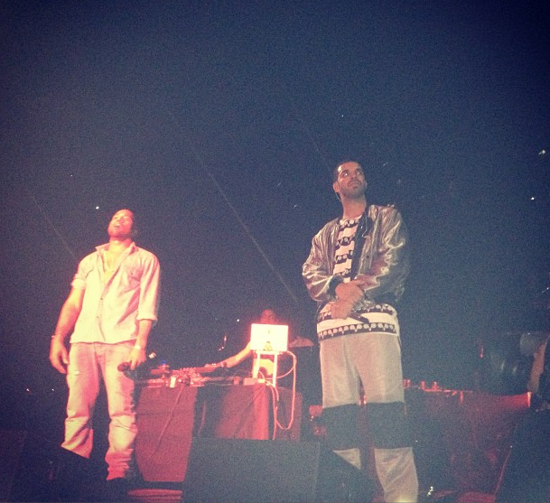 MUSIC NEWS! Drake Brings Kanye West On Stage At OVO Fest